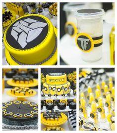 Transformers themed birthday party via Kara's Party Ideas KarasPartyIdeas.com Cake, decor, tutorials, desserts, supplies, food, and more! #transformers #transformersparty #transformerspartyideas #transformer (1)