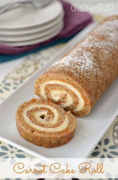 Carrot Cake Roll By Www.crazyforcrust... | An Easy Take On A Favorite Easter Dessert! #cake