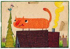 sweet kitten original work vintage by ArtRobertRomanowicz on Etsy