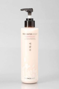 The Face Shop Rice Water Bright Cleansing Milk. I don't like this cause it leaves a oily film. Also it has mineral oil in it. It doesn't seem to do anything for my skin either. I like Shu Uemura's cleansing oils a lot more. They clean off perfectly with water and my skin works well with them.