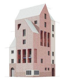 modelarchitecture:by Uwe Schröder Architecture Graphics, Architecture Drawings, Classical Architecture, Art And Architecture, Architecture Student, Revit, Arch Model, Architecture Visualization, House