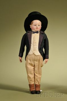 """Micawber,"""" Pawtucket, Rhode Island, c. painted stockinette he. Old Dolls, Antique Dolls, Antique Wax, Sick Baby, Women Names, Beautiful Dolls, Doll Clothes, American Dolls, Early American"""
