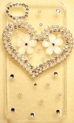 Lovers Heart & Flowers Bling Crystal Clear Case « Holiday Adds
