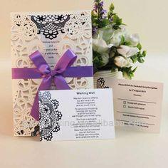EA483 ---- Ivory wedding card invitation