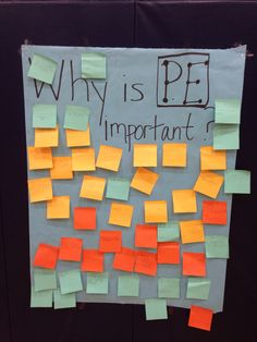 This PE assessment tool is useful because you get individualized answers from each student. You can see who has been paying attention during instruction, and the varied opinions your students may have regarding PE itself. Pe Games Elementary, Elementary Physical Education, Pe Activities, First Day Activities, Pe Teachers, Education Quotes For Teachers, Benefits Of Physical Education, Pe Bulletin Boards, Pe Lessons