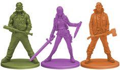 Zombicide: Season 3 Kickstarter Survivors from Season 3: Rue Morgue: Bear, Cathy, Dan