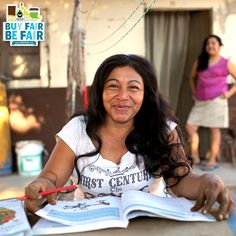 Rosa is all smiles while completing her homework for her adult elementary school course thanks to a scholarship supported by #FairTrade Funds. Thumbs up to show your support for Rosa, a strong (and smart!) woman of Fair Trade! http://befair.org/ #BeFair #women #womensempowerment #education