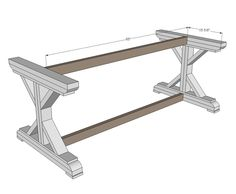 Ana White   Build a Fancy X Farmhouse Table   Free and Easy DIY Project and Furniture Plans. For you, Brian