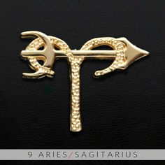 9 Aries and Sagitarius Gold Unity Pendant by UnityDesignConcepts, $99.99