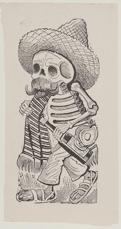 Jose Guadalupe Posada, Mexican (1852-1913), Madero, 1910, Print, woodcut