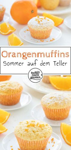 This quick recipe for delicious orange muffins ensures summer on your plate! This quick recipe for delicious orange muffins ensures summer on your plate! Muffin Recipes, Baking Recipes, Cookie Recipes, Snack Recipes, Dessert Recipes, Snacks, Fall Desserts, Healthy Desserts, Muffins Sains