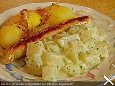 Kohlrabigemüse mit Käsesauce