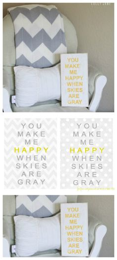 You make me Happy when Skies are Gray #freeprintable