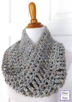 The Platinum Cowl is an easy project that can be worked up with a single skein of super bulky yarn in an evening. Worked with a large...