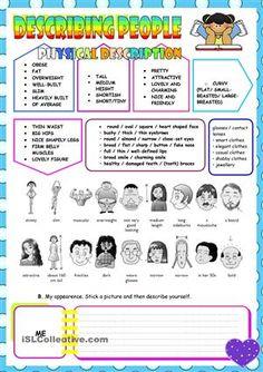 Describing People. worksheet - Free ESL printable worksheets made by teachers