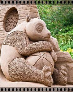 Panda Sand Sculpture
