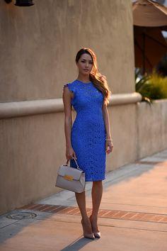 Blue Lace Zara Dress - Hapa Time