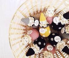 Handmade crochet Rattles from Denmark Denmark, Crochet, Handmade, Products, Hand Made, Crochet Crop Top, Chrochet, Knitting, Beauty Products