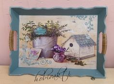 ♥♥ Hobi Vakti ♥♥ Decoupage Furniture, Decoupage Paper, Vintage Wood, Vintage Decor, Craft Projects, Projects To Try, Dining Decor, Collage, Bird Houses