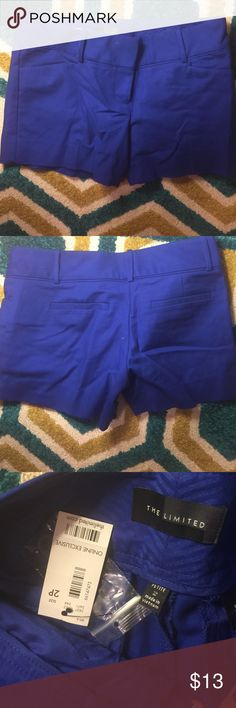 Blue limited dress shorts Petite! Never worn. Ordered online last fall but gained weight over winter. Online exclusive The Limited Shorts