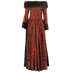 1stdibs - 1970s Lanvin Paisley/ Mink dress