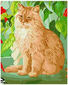 Framed Painting by Number kit 50x40cm (20x16'') Lovely Cat Pet Animal DIY JC7316 in Crafts, Painting, Drawing & Art, Painting Supplies | eBay