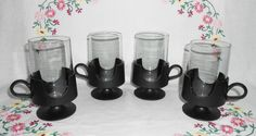 4 Glas-Snap Party Glasses by Corning / Pyrex by WeBGlass on Etsy