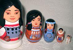 Russian Nesting Doll - Eskimo - Native American
