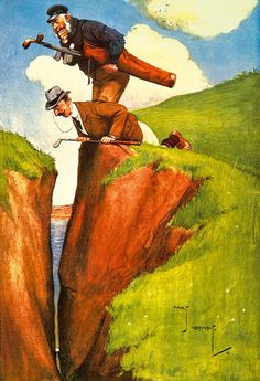 What Shall I Take for This Art Print by Charles Crombie... #golf #art