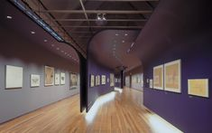 Exhibition Design Schirn Kunsthalle » UNStudio, purple movable walls, nice solution for temporary spaces in a gallery.