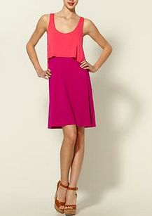 Colorblock Tank Dress  This loose, bright tank dress is an easy and fun way to rock the popular colorblocking trend without spending too much.    Piperlime Double Layer Tank Dress, $30