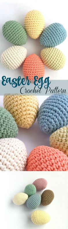 I love this crochet Easter Egg pattern - such a fun Easter craft that would look great in a centerpiece or basket ...#afflink #crochet #crochetpattern #etsy #Easter #eastereggs #eastercrafts