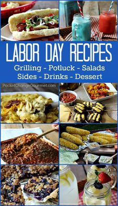 Labor Day Recipes | Grilling Recipes, Potluck Recipes, Salads, Sides, Desserts and Drinks | Recipes on PocketChangeGourmet.com