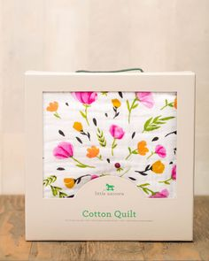 """- Description - Product Details - Material and Care Snuggle x 4. Delightfully soft and breathable quilts made with 4-layers of breathable, natural cotton muslin. • Large 47"""" x 47"""" size • 4-layers of 1"""