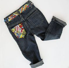 Superhero Jeans Boy READY TO SHIP by PickeeKids on Etsy