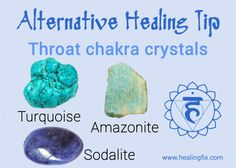 Stimulate your throat chakra using these stones. Throat Chakra Crystals, Throat Chakra Healing, Crystals And Gemstones, Stones And Crystals, Gem Stones, Healing Stones, Crystal Healing, Human Design System, Wiccan
