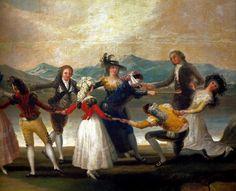 Francisco de Goya - Blind Man's Bluff, 1789 at Prado Museum Madrid Spain