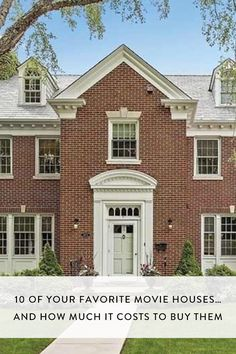 10 of Your Favorite Movie Houses...And How Much It Costs to Buy Them via @PureWow