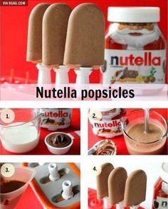 Nutella popsicles! #9gag