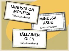 Tulostettavia tutustumiskortteja ryhmätoimintaan | RyhmäRenki Occupational Therapy, Speech Therapy, Team Building, Counseling, Back To School, Kindergarten, Positivity, Teacher, Activities