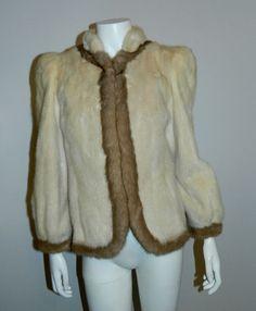 1970s mink jacket / vintage short coat pearl mink Palomino trim XS - S – Retro Trend Vintage