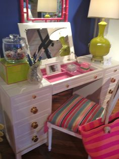 High Point Market Spring 2012-Lilly Pulitzer adorable Vanity with Jewelry tray. Probably comes in lots of their great colors!