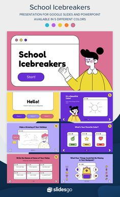 Go back to school and begin your classes with this funny icebreaker Google Slides theme and PowerPoint template for your presentation! #Slidesgo #FreepikCompany #freepresentation #freetemplate #presentations #themes #templates #GoogleSlides #PowerPoint #GoogleSlidesThemes #PowerPointTemplate #Education #School #Icebreakers Creative Powerpoint Presentations, Powerpoint Slide Designs, Powerpoint Design Templates, Education Templates, School Presentation Ideas, Presentation Design Template, Cool Powerpoint Backgrounds, Powerpoint Background Design, School Icebreakers
