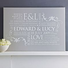 Personalised Couple's Word Art  by Cherry Pete