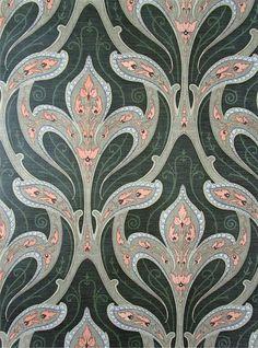 Art Nouveau Vintage Wallpaper SANDERSON   ART NOUVEAU ...
