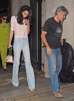 A siete meses de su matrimonio Amal Clooney sorprende con su delgadez