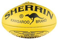 Sherrin was founded in 1880 by Thomas William Sherrin (the T.W Sherrin that is still present on the ball today). Sherrin continues 139 years on to make footballs by hand in much the same manner from a factory in Scoresby, Victoria. Australian Football, Football Art, Australian Art, Birthday Presents, Kangaroo, Things That Bounce, Melbourne, Shapes, Horse Saddles