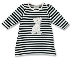 Lovely Black and White stribet dress for the small girls, with a cute puppy at the front. 10 CHF