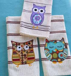 Kitchen towels!!love the owl but not the towels
