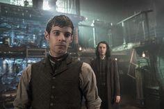 Harry Treadaway as Dr. Victor Frankenstein/ Shazad Latif as Dr. Henry Jekyll in Penny Dreadful Season 3 ep: The Blessed Dark